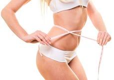Kobieta z pięknym ciałem po diety Obrazy Royalty Free