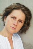 Kobieta z piegami Zdjęcie Royalty Free