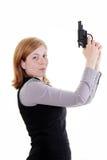 Kobieta z pistoletem Zdjęcia Stock