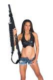 Kobieta z pistoletem Obrazy Royalty Free
