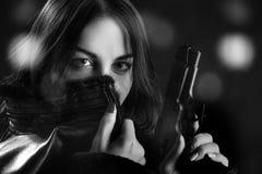 Kobieta z pistoletem Zdjęcie Stock