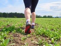 kobieta z sportową parą nogi Zdjęcia Stock
