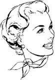 Kobieta z szalikiem Fotografia Royalty Free