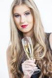 Kobieta Z szkłem szampan Fotografia Stock
