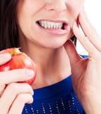 Kobieta z toothpain Obrazy Stock