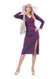 Kobieta z torbą Fotografia Stock