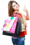 Kobieta z torba na zakupy Obrazy Royalty Free