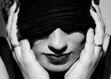 Kobieta z turbanem Obrazy Stock