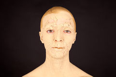 Kobieta z twarzy maską Zdjęcia Stock