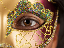 Kobieta z venetian maską Obraz Royalty Free