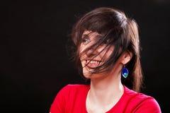 Kobieta z włosy Fotografia Stock