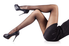 Kobieta z wysokimi nogami Obrazy Stock