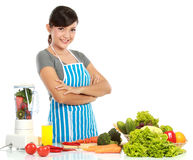 Kobieta z zdrowym jedzeniem Obrazy Stock