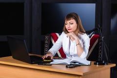 kobieta zadumana jednostek gospodarczych Obraz Stock