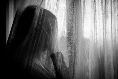 kobieta zakłopotana Fotografia Stock