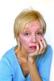kobieta zanudzająca zdjęcia stock