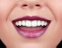 Kobieta zdrowi zęby Fotografia Stock