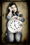 kobieta zegara Obrazy Royalty Free