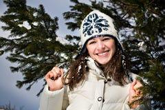 Kobieta zima portret zdjęcia stock