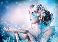 Kobieta zima portret zdjęcia royalty free