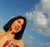 kobieta zmieszana zdjęcie stock