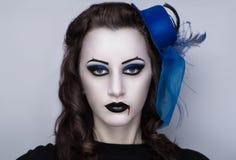 Kobieta zmroku wampir Zdjęcia Royalty Free