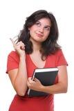 kobieta znajdujący pomysłu uczeń fotografia stock