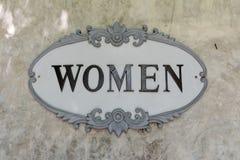 Kobieta znak Zdjęcie Royalty Free