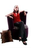 kobieta zrelaksowana Obrazy Royalty Free