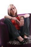 kobieta zrelaksowana Fotografia Stock