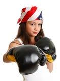 Kobiety ćwiczyć i boks Zdjęcia Stock