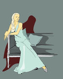 kobiety royalty ilustracja
