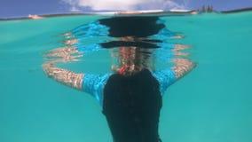Kobiety apnea snorkeling zdjęcie wideo