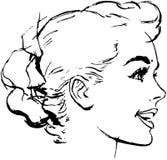 Kobiety babeczki fryzura Zdjęcia Stock