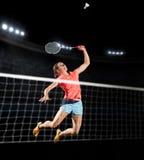 Kobiety badminton gracza sportów sala odosobniona wersja Obraz Royalty Free