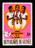 Kobiety bawić się muzykę, Międzynarodowy rok kobieta około 1976, Obraz Stock