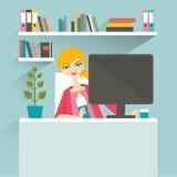 Kobiety biura miejsce pracy sekretarka Obraz Royalty Free