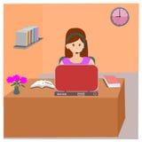 Kobiety biurowa praca ilustracja wektor
