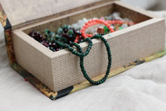 Kobiety biżuterii pudełko Zdjęcia Royalty Free