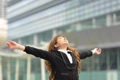 Kobiety biznesowa rozciągliwość ja Fotografia Royalty Free