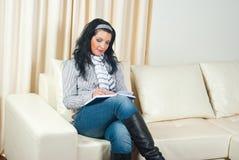 kobiety biznesowy domowy działanie Fotografia Stock
