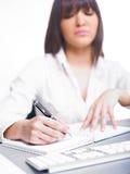 kobiety biznesowy szczęśliwy writing Zdjęcia Stock