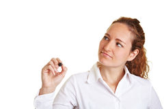 kobiety biznesowy szklany writing Zdjęcia Stock