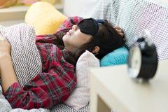 Kobiety budzili się póżno w ranku zdjęcia stock