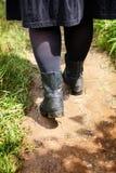 Kobiety butów ścieżki podwyżka Zdjęcie Stock