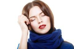 Kobiety być ubranym woolen obrazy stock