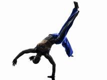 Kobiety capoeira tancerza dancingowa sylwetka Fotografia Royalty Free