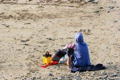 Kobiety czekanie i Osamotniony zdjęcia stock