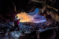 Kobiety Dewdrop jamy Rekonesansowi kratery księżyc obywatel Idaho obraz royalty free