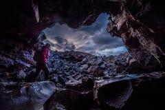 Kobiety Dewdrop jamy Rekonesansowi kratery księżyc obywatel Idaho obraz stock